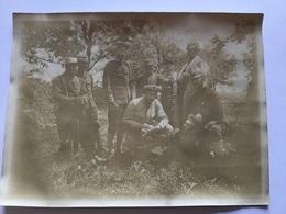 2 Photos Poilus 235°RI Avec Infirmiers Allemands Fraternisation à La Frontière Suisse 1914-18 - 1914-18