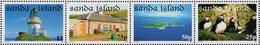 Great Britain - Sanda Island - 2004 - Island Views - Lighthouse, Farm, Aerial, Birds - Mint Stamp Set - Ortsausgaben