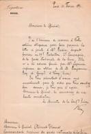 1871 L.S. Johann Konrad KERN (1808-1888) Comme Le Ministre De La Confédération SUISSE Au Gal CLÉMENT-THOMAS - Documenti Storici