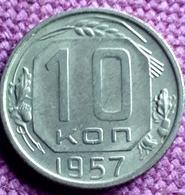 RUSSIA : 10 KOPEKS  1957 Y 123 HIGH GRADE - Rusland