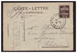 Carte Lettre De L'Espérance En Alsace Réconpenses Méritées - Militärpostmarken