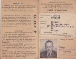 COMITE D'ACTION DES RESTAURANTS COMMUNAUTAIRES PARIS SAINT CYR L ECOLE 1943 - Cartes