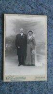CDV  PORTRAIT  PHOTO  D UN COUPLE  DE MARIER  -  A - CHERVRINAIS  MAYENNE - Anciennes (Av. 1900)