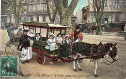 MARSEILLE(13 Bouches Du Rhhône) La Voiture à âne Plaine St Michel (couleur) - Parcs Et Jardins