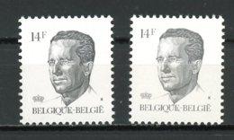 BE   2352 - 2352P5b  XX   --    Les Deux Papiers  --   Excellent état. - 1981-1990 Velghe