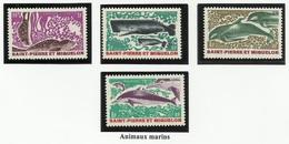 SAINT PIERRE ET MIQUELON SPM N° 391 à 394 ** Neufs 1969 Poisson - Neufs