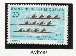 SAINT PIERRE ET MIQUELON SPM N° 405 ** Neuf 1970 SPORT AVIRON - Neufs