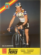 Postcard Noel Dejonckheere  -  Teka  -  1987 - Ciclismo
