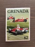 """Francobollo Grenada 1988 NUOVO Serie """"Cars"""" Ferrari F1 312T Del 1975 - Automovilismo"""