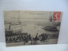3525. MARSEILLE 13 BOUCHE DU RHONE ENTRÉE DU VIEUX PORT ET LE PONT A TRANSBORDEUR CPA P RUAT EDIT MARSEILLE - Old Port, Saint Victor, Le Panier
