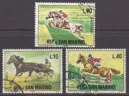 San Marino - 1966 Sport, Horses Race, Used - Usados