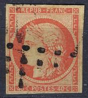FRANCE Classique:  Le Y&T 5, Obl. Gros Points , Belle Nuance,  Forte Cote,   B à TB - 1849-1850 Cérès