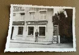1932 Photo Originale Café BERTRAND à MARTEAU (ONHAYE) Spa Monopole Caulier Byrrh Léopold - Onhaye