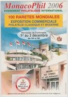 Monaco Décembre 2006 MonacoPhil Stamp Exhibition Exposition Philatélique Terrasses Fontvieille Thierry Mordant - Terraces