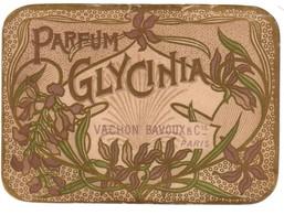 Carte  Parfum GLYCINIA  De Vachon-Bavoux à Paris - Anciennes (jusque 1960)