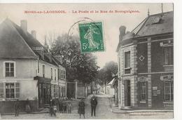 MONS En LAONNOIS  -  La Poste Et La Rue De Bourguignon - Autres Communes
