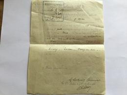 Rare Compte Rendu De Tir De Mitrailleuse Sur Avion Allemand Berry Au Bac 1917 1914-18 - 1914-18