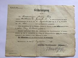 Document Allemand Hôpital Militaire De Mulhouse 1917 1914-18 1 - 1914-18