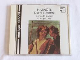 HAENDEL, Duetti E Cantate, Concerto Vocale, René Jacobs - Classique
