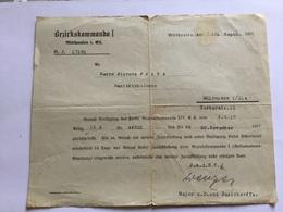Document Allemand Hôpital Militaire De Mulhouse 1917 1914-18 - 1914-18