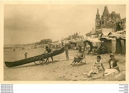 WW 2 Cpa 14 VILLERS-SUR-MER. Plage Devant Casino Et Jeux De Sable - Villers Sur Mer