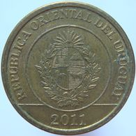 LaZooRo: Uruguay 1 Peso 2011 XF / UNC Mulita - Uruguay