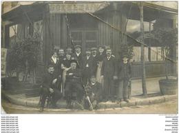 COMMERCES. Café Restaurant Maison Bonnemain. Petit Publicité Byrrh. Mauvais état... Photo Carte Postale à Identifier... - Cafés
