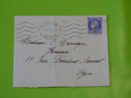 Valence Gare - Drôme - Flamme Krag - 5/10/1941 - Marcophilie (Lettres)