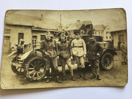 Belle Carte Photo D'une Auto Mitrailleuse Française Après 1914-18 - Documents