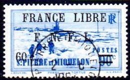 """Saint Pierre Et Miquelon: Yvert N° 276°; Surchargé """"France Libre"""" - Oblitérés"""