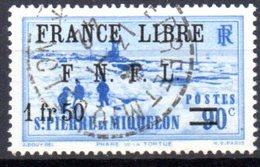 """Saint Pierre Et Miquelon: Yvert N° 277°; Surchargé """"France Libre"""" - Oblitérés"""