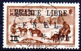 """Saint Pierre Et Miquelon: Yvert N° 279°; Surchargé """"France Libre"""" - Oblitérés"""