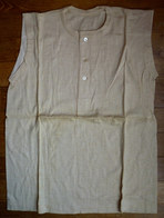 Une CHEMISE Sans Manche Débardeur EN COTON ECRU Années 40-50 (1) 3 Boutons En Nacre - Vintage Clothes & Linen