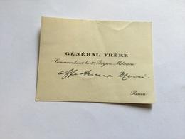 Carte De Visite Du Général Frère Mort En Déportation - Documents