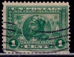 United States, 1913, Vasco Nunez De Balboa, 1c, Sc#397, Used - Used Stamps
