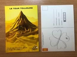 """Le Tour De France Cyclisme 4 Au 26 Juillet 2009 96e édition """"Le Tour Toujours"""" Carte Postale Postcard Cycling Radrennen - Cycling"""