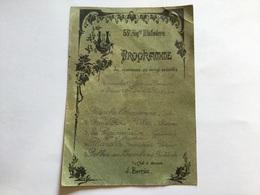 Programme De Concert De La Musique Militaire Du 53°RI Perpignan Vers 1900 - Documents