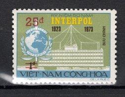 VIETNAM DU SUD   N° 516    NEUF SANS CHARNIERE COTE 10.00€    INTERPOL SURCHARGE - Vietnam