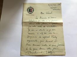Courrier Avec Insigne 1°REC Légion étrangère Capitaine Laborde 1949 - Documents