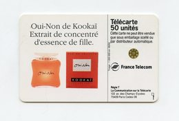 Publicité Parfum De KOOKAÏ . Télécarte 50 Unités . Pour éteindre Les Garçons, Faites Le 18 - Parfum
