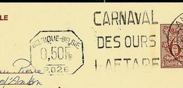 Publibel Obl. N° 2740 + P. 026 (noir) (Vin De France) Obl; Carnaval Des Ours Laetare Andenne 1980 - Publibels