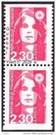 France Marianne Du Bicentenaire N° 2629 A ** BRIAT - Dentelure 3 Cotés Non Dentelé En Paire - 1989-96 Marianne Du Bicentenaire