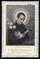 Santino Merlettato: S. LUIGI GONZAGA - E - RB - Mm. 78 X 115 - Religione & Esoterismo