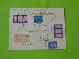 Aix Lès Bains - Savoie - Recommandé Chargé - étiquette 001 - 28/01/1930 - Marcophilie (Lettres)