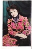 1960 Pretty Girl Young Woman Lady - Portrait En Studio Jeune Femme Fille - VINTAGE  Soviet Russian Hand Tinted Photo - Anonymous Persons