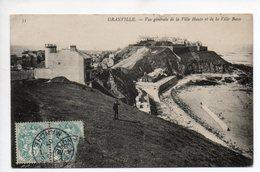 CPA 50 . GRANVILLE . VUE GENERALE DE LA  VILLE  HAUTE ET DE LA  VILLE  BASSE . 1907 - Granville