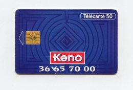 La Française Des Jeux KENO  . Télécarte 50 Unités . - Giochi