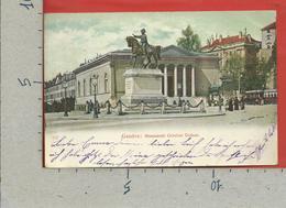 CARTOLINA VG SVIZZERA - GENEVE - Monument General Dufour - 9 X 14 - 1906 - GE Ginevra