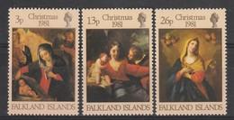 FALKLAND - N°331/3 ** (1981) Noël - Falklandinseln