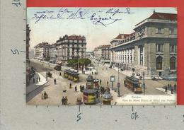 CARTOLINA VG SVIZZERA - GENEVE - Rue Du Mont Blanc Et Hotel Des Postes - 9 X 14 - 1907 - GE Ginevra